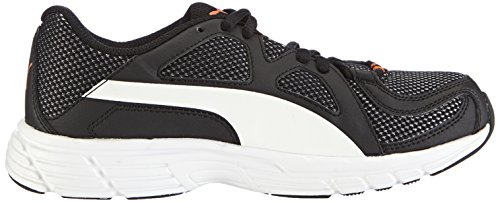 Puma  Axis v3 Mesh, Sneakers basses mixte adulte Noir - Schwarz (black-white-vermillion orange 08)