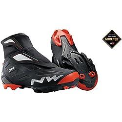 Northwave Celsius GTX zapatos de ciclismo, 2 de invierno con Gore Tex Negro / Rojo 2016, schuhgröße:gr. 41