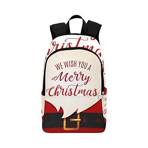 Santa Claus Message Banner Red Santa Casual Daypack Reisetasche College School Rucksack für Herren und Frauen