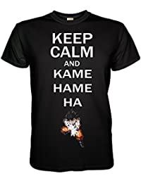 6eb933961f6d King of Merch - Herren T-Shirt - Dragon Ball Z Keep Calm and Kamehameha Son  Goku Gohan Akira Toriyama Manga Anime…