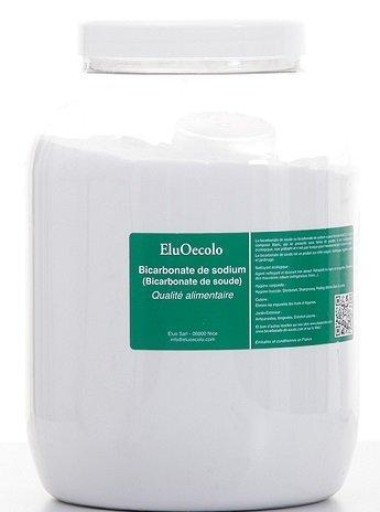 Bicarbonate de Soude 3kg - Qualité alimentaire - EluOecolo avec doseur à...