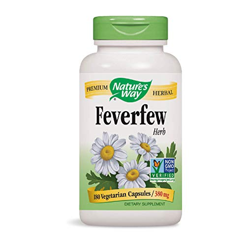 Nature\'s Way | Bertramswurz (Fieberkrautblätter) (feverfew) | 380 mg | 180 vegetarische Kapseln | glutenfrei