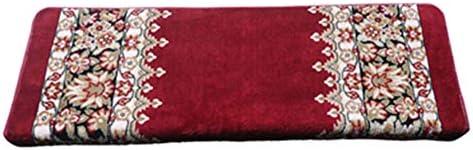 HAIPENG Tappeti per Scalini Scale Pads Tappeto Pedate Pads Scale Tappetini Anti Scivolo Autoadesiva Ottomans Rosso Europeo Stile, 3 Dimensioni, 2 Stili (Coloreee   Rectangle-100x24x3cm, Dimensioni   5 PCS) c1504a