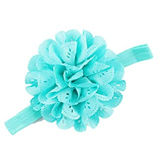 Attractive Beauty Girl's Hollow Out Flower Headband Baby Accessories, Blue