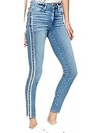 c26f0c66 PAIGE Women's Jean Hoxton Ankle SOTO Silver Stripe Tux HIGH Rise Skinny  Jeans 1767C36 6999 (