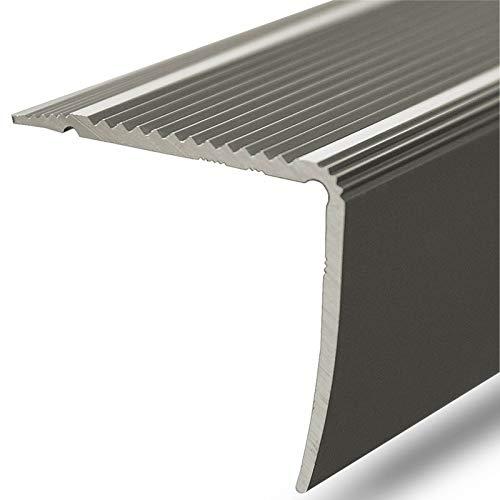 Alu Stufenkantenprofil Integral | L Form | gelochtes Profil zum Schrauben | Breite 30 mm | eloxiert Champagner | 100 cm