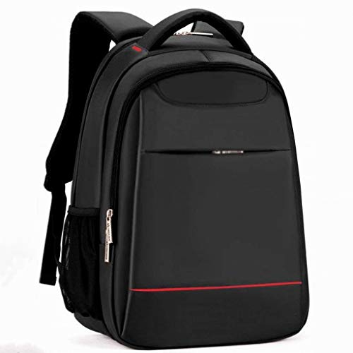 """XHHWZB Schulrucksack, College Middle High Student Anti-Theft Laptop Rucksack für Junge Mädchen Männer Frauen, Wasserdicht Computer Tasche, Leichte Tasche Fit 15,6\""""Notebook (Farbe : Schwarz)"""