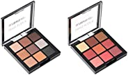 Swiss Beauty Ultimate 9 Color Eyeshadow Palette, Eye MakeUp, Multicolor-05, 9g and Swiss Beauty Ultimate 9 Col