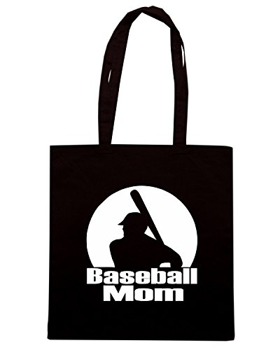 T-Shirtshock - Borsa Shopping FUN0703 baseball mom 3 adhesive vinyl decal 42461 Nero