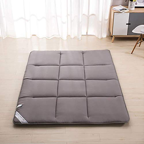 JGFJLO Tatami futon matratze, Faltbare Tatami futonmatratze Tragbare futon Für Camping Gäste Kinder-Grau 150x200cm(59x79inch) (Futon-matratze-abdeckung)