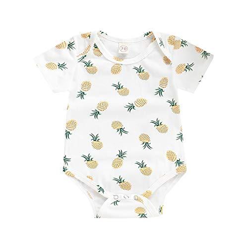 Allegorly Neugeborene Baby Strampler Ananas drucken Mädchen Junge Kurzarm Overall Sommer Party Spielanzug Bodys Jumpsuit Outfits Bodysuit 3-24 Monate