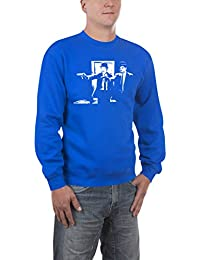 Touchlines Herren Pullover Laurel and Hardy Fiction