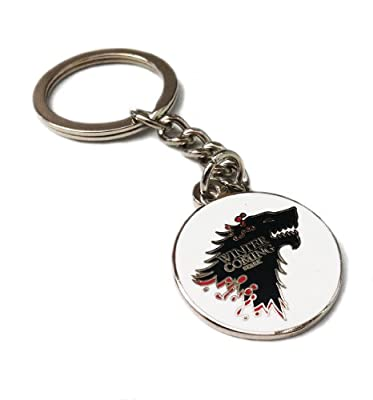 Game Of Thrones House Of Stark. Direwolf Stainless Steel Key Ring. Winter Is Coming