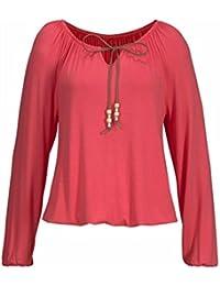 OverDose camisetas blusas manga larga para mujer V cuello tops bowknot sólido S-XXL