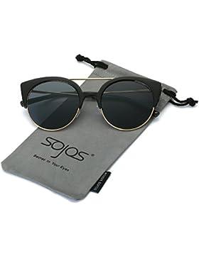 SojoS classici ponti retrò in meta ' metallo Telaio Occhi di gatto occhiali da sole per gli uomini e le donne...