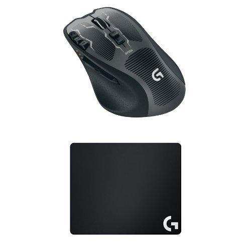 Preisvergleich Produktbild Logitech G700s Gaming Lasermaus schnurlos + Logitech G240 Gaming Mauspad (für Gaming Mause) schwarz