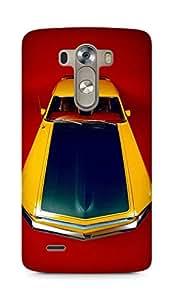 Amez designer printed 3d premium high quality back case cover for LG G3 (Mustang Car)