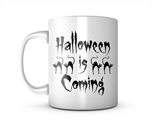 Halloween Is Coming Schwarz Cat Cool Party Keramik Tasse Kaffee Tee Becher Mug
