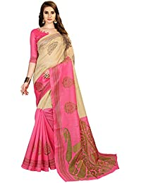 Indira Designer Art Kota Cotton Blend Saree With Blouse Piece (Free Size)