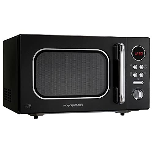 410taV34zbL. SS500  - Morphy Richards Microwave Accents Colour Collection 511510 23L Digital Solo Microwave Black