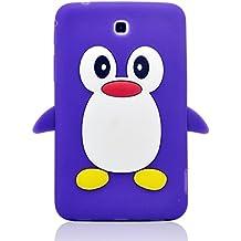 """Tsmine 3d pingüino Caso morado Samsung Galaxy Tab 3 7"""" Tablet"""