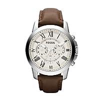 Reloj Fossil FS4735 de cuarzo para hombre con correa de piel, color marrón de FOSSIL