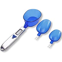 Balanza de Cuchara, Mini balanza Digital para Alimentos de Cocina con 3 cucharas de pesaje