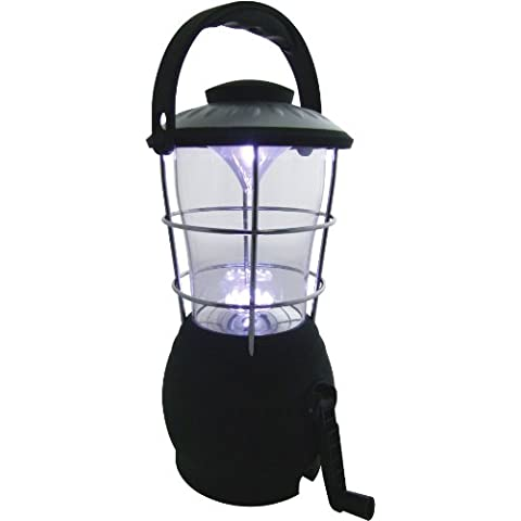 Am-Tech - Lámpara de camping con dinamo (16 bombillas LED)