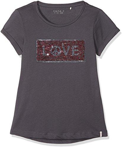 ESPRIT Mädchen Regular Fit T-Shirt RK10405, Einfarbig, Gr. 170 (Herstellergröße: XL), Blau (Ink 489)