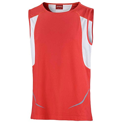 Spiro Mens Colours Athletic Running Training Sports Sleeveless Vest Top