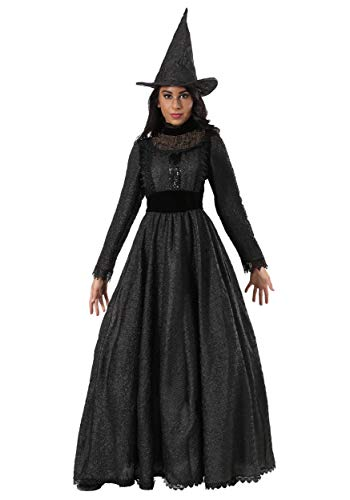 Kostüm Witch Storybook - Women's Deluxe Dark Witch Fancy Dress Costume Small