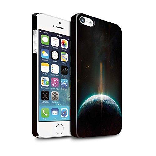 Offiziell Chris Cold Hülle / Glanz Snap-On Case für Apple iPhone 5/5S / Pack 6pcs Muster / Galaktische Welt Kollektion Phönix/Raumzeit