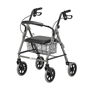 Homecraft - Deambulatore a 4 ruote, con freno a cavo, colore: Quarzo