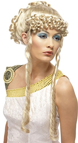 Smiffys, Damen Griechische Göttin Perücke mit Locken, One Size, Blond, 42168 (Griechische Göttin Perücken)