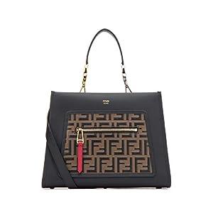 2dc435f657 Fendi Women's 8BH344A4BOF13WB Black Leather Handbag