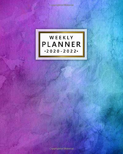 Weekly Planner 2020-2022: Inspirational Three Year Daily Planner & Schedule Agenda with Weekly Spread Views - Pretty Watercolor 3 Year Organizer with Notes, Vision Boards, Motivational Quotes & More