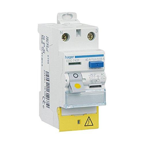 Hager Fehlerstrom-Schutzeinrichtung, 40A,30mA, 2-polig, Typ AC