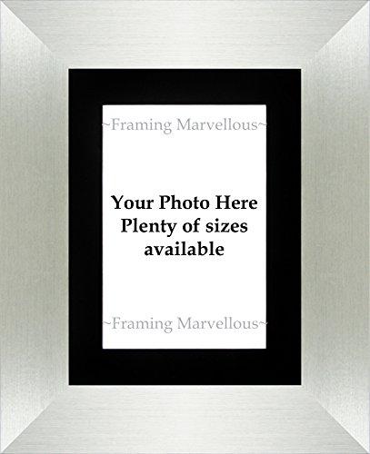 Einrahmung wundervolles gebürstetes Silber Bilderrahmen-wählen Sie Größe, acryl, Schwarz, 6x4