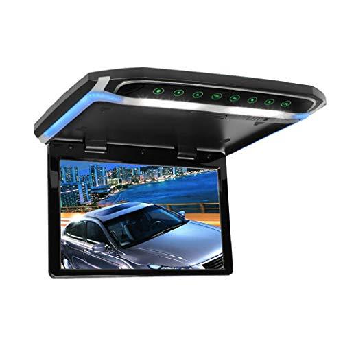 MiCarBa 12.1 Pulgadas Flip Down Monitor 1080P HD TFT LCD Montaje en Techo Monitor Ultrathin Overhead Reproductor de Video con función IR (CL1201BL-IR)