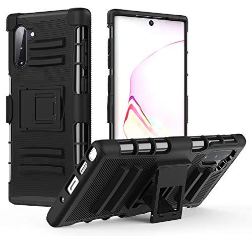 MoKo Kompatibel für Galaxy Note 10 Hülle, Heavy Duty Serie Outdoor Dual Layer Armor Case Handy Schutzhülle Schale mit Gürtelclip & Standfunktion für Samsung Galaxy Note 10 6.3