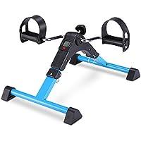 EXEFIT Pedales Estaticos Ejercicio de Mini Bicicleta con Monitor LCD para Pierna y el Brazo de