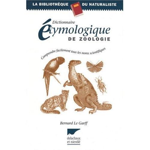 Dictionnaire étymologique de zoologie
