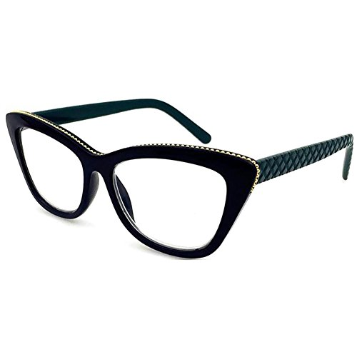 1d002f5589 JUNDASI Gafas para mujer Gafas de lectura de ojos de gato de moda fuerza:+