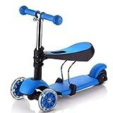 YINGER Monopattini Sport Rapido Altezza pieghevole multifunzione Per Ragazzi / Ragazze / Bambini / Bambini kickboard , blue