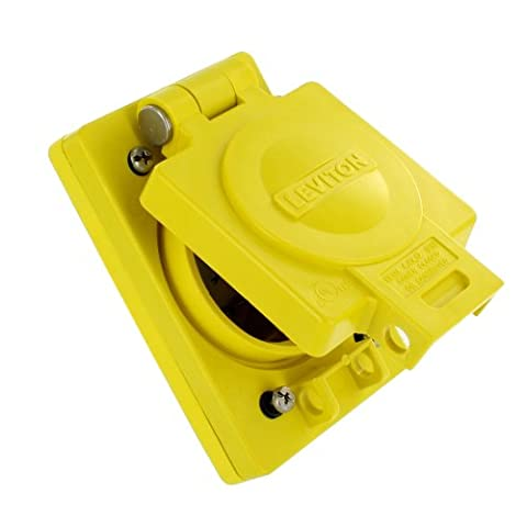 Leviton WTCVS-20 Wetguard Replacement Cover and Gasket for all 20A Locking Single Inlets and Outlets,
