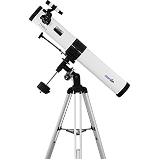 Zoomion Voyager 76 EQ astronomical telescope with 76mm aperture and 700mm focal length