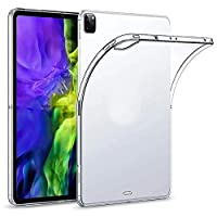 iPad Pro 11 inch Case, Transparent Slim Silicon Case Flexible Soft TPU Shockproof Tablet Computer Case for iPad Pro 11 inch Model 2020