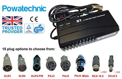 TS 48V 2,5A Lithium Li-Ion, LiFePO4-Batterie Ladegerät für E-Bike Mobilität Scooter Rollstuhl Elektrorollstuhl Golf Trolley Carts