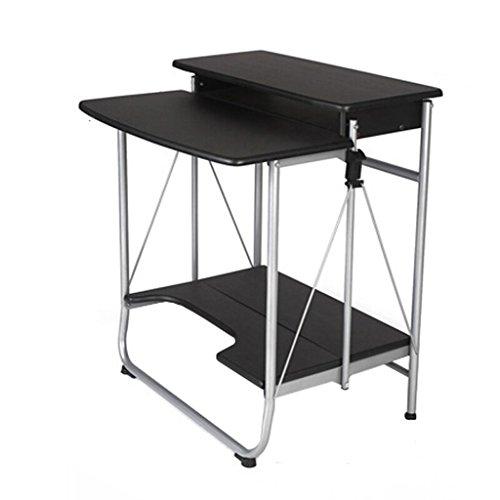 Mdf Moderner Schreibtisch (XUANLAN Moderner einfacher schwarzer Computer-Schreibtisch-Klapptisch-Haushalts-Studien-Schreibtisch)