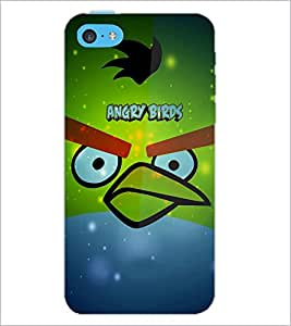 PrintDhaba Angry Bird D-3444 Back Case Cover for APPLE IPHONE 5C (Multi-Coloured)